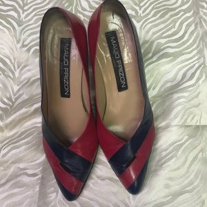 MAUD FRIZON Paris Vintage Leather Heels
